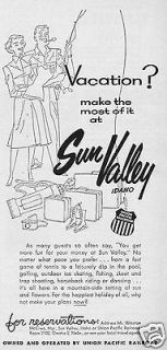 1955 Sun Valley Idaho Vacation Travel Trip Union Pacific Railroad