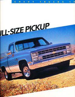 1986 Chevrolet Chevy Silverado Truck Original Sales Brochure