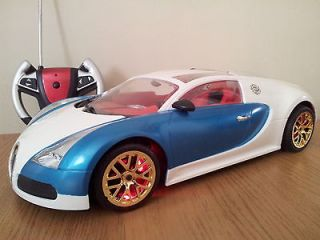 BUGATTI VEYRON RECHARGEABLE Radio Remote Control Car FLASHING LIGHTS