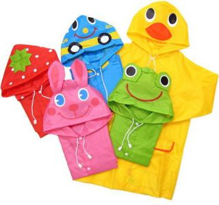 Funny Raincoat Children Cartoon Rain Coat Kids Rainwear Waterproof