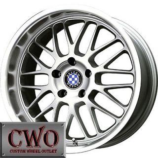 20 Silver Beyern Mesh Wheels Rims 5x120 5 Lug CTS BMW 1 3 Series Acura