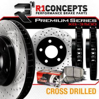 KIT] PREMIUM SERIES CROSS DRILLED Performance Brake Rotors + Pads