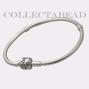 authentic pandora silver bracelet with pandora lock 7 5 time