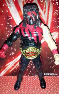 WWE Kane Red Masked Wrestling Action Figure w/ Championship Belt Jakks