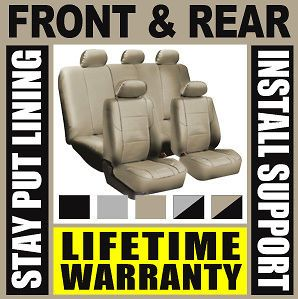 Solid Tan Complete Full Car Seat Covers Set   Oem Solid Rear Truck Suv