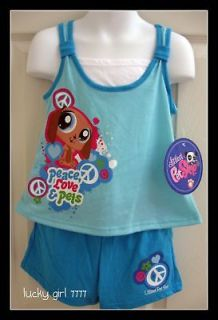 Littlest Pet Shop Girls Short/Shirt Set or Pajamas 6/6x LOW SHIPPING