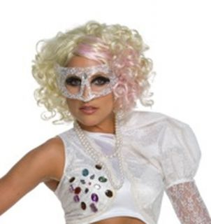 new lady gaga licensed blonde pink costume wig