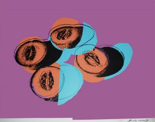 Original Signed Andy Warhol Screenprint   Cantaloupes II, 1979