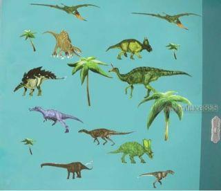 Forest Dinosaurs Jurassic Park Wall Stickers Kids Boys Bedroom Vinyl