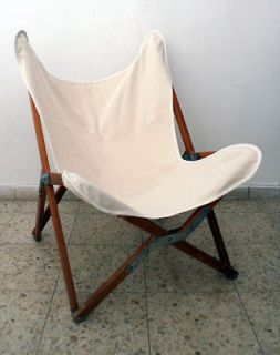 Vintage Hardoy Wooden Butterfly Folding Chair Mid Century Eames Nelson