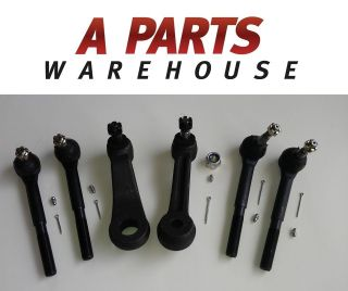 STEERING PARTS 1 IDLER + 1 PITMAN ARM + 2 OUTER + 2 INNER TIE ROD