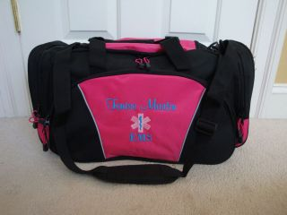 personalized medic emt ems paramedic nurse duffel bag time left