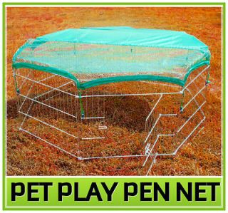 Pet Dog Cat Exercise Pen Playpen Fence Yard Kennel Net Cover