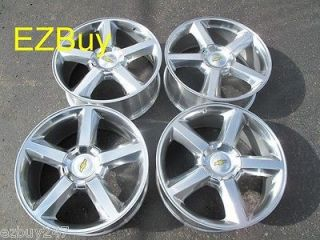 GMC ESCALADE FACTORY STYLE POLISHED WHEELS RIMS 5308 FACTORY CAPS