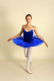 professional classical petite platter tutu royal blue