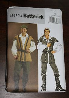 Butterick Robin Hood Mens Costume Sewing Patterns B4574 4574 Size XL