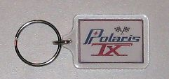 polaris tx vintage snowmobile repro keychain fob ring from canada