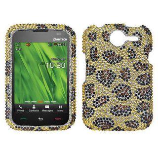 PANTECH P6030(Renue) Case Cover Bling Rhinestones Leopard Skin/Camel