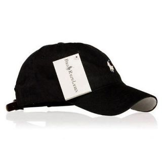 Polo Casual Outdoor Golf Sport Ball Classic Cap Hat   Black(White)
