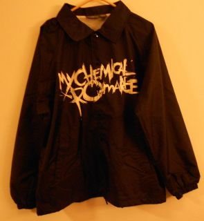 my chemical romance size xl jacket wind breaker rock time