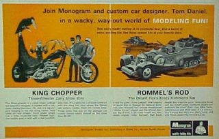 1969 Monogram Model Kit ~ Rommels Rod Desert Fox Military Boys Toys