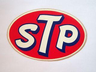 STP Large Oval Vintage Racing Decal Sticker NASCAR NHRA Go Cart Petty