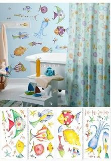 Roommates Sea Creatures Peel And Stick Applique Wall Decal Set New in