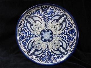 Blue & White handpainted Decorated Charge Plate Wall Mount Mexico