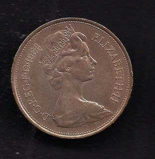 UK Great Britain 10 New Pence 1968 Coin KM # 912 Lot U8