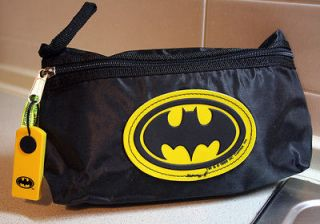VINTAGE RARE 1989 BATMAN KNIGHT DC PENCIL CASE BAG MADE IN ITALY NEW