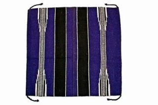 Newly listed 30x30 Purple / Black White Western Saddle Blanket