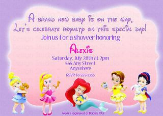 Personalized Baby Princess Birthday or Baby Shower Invitation Invite