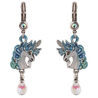 NEW KIRKS FOLLY CLOUDWALKER DREAMS UNICORN LEVERBACK EARRINGS ST