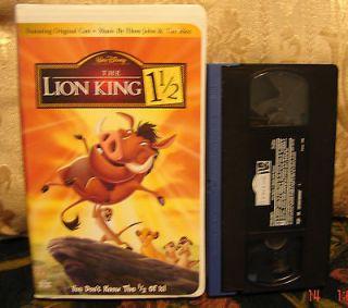 Walt Disneys The Lion King 1 1/2 Video EXC COND VHS Ship 1 VHS $3