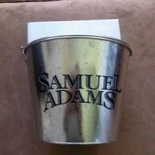 sam adams 5qt metal beer ice bucket bar cooler bonus  10 99