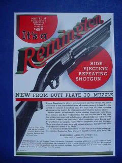 1931 remington model 31 pump repeating shotgun poster time left