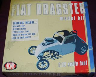 fiat topolino custom dragster model kit 1 18 gmp acme