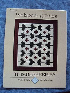 whispering pines quilt pattern by thimbleberries from canada time left