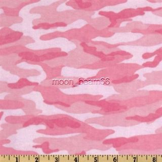 comfy flannel fabric camo camouflage pink time left $ 6