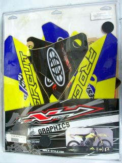RMZ450 (07) N Style Graphics Kit w/ Gripper Seat Cover P/N DS07450