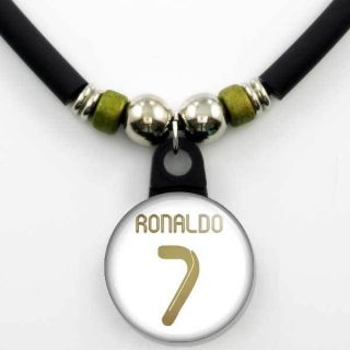 Cristiano Ronaldo #7 Real Madrid 2011 12 Home Jersey Necklace, NEW