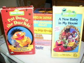 LOT OF 8 HARD TO FIND SESAME STREET VHS VIDEOS RARE OUT OF PRINT