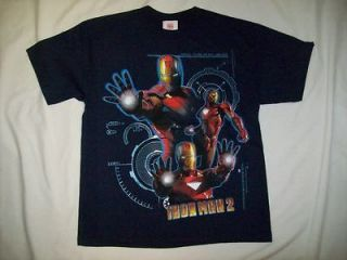 Comics Iron Man 2 Defensive Arc Reactors Navy T Shirt sz Youth Large