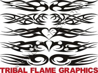 tribal flame window graphics sticker decal front rear time