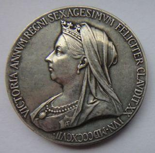 Solid silver smaller size Queen Victoria Diamond Jubilee Medallion