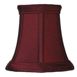 Inch Bell Chandelier Lamp Shade Silk Red Mini Clip On Shades