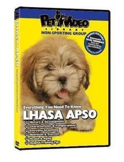 lhasa apso puppy dog care training dvd new bonus time