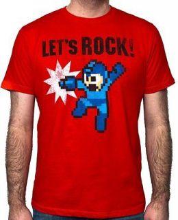 mega man let s rock red mens t shirt