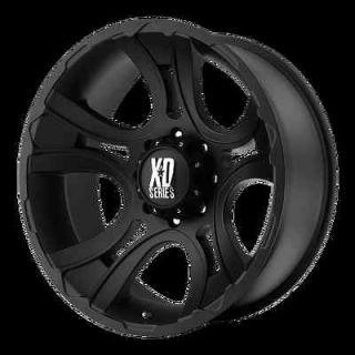 17 inch Black wheels XD801 CRANK Chevy Gmc Dodge 2500 3500 Trucks 8