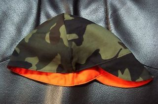 Wendys Welding Hat Hunting Hat Blaze Orange Camo Reversible